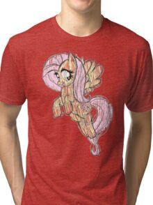 Fluttershy stencil art Tri-blend T-Shirt