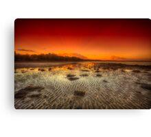 Sunbeam Beach Sunset Canvas Print
