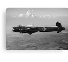 Dambusters Lancaster AJ-G carrying Upkeep black and white version Canvas Print