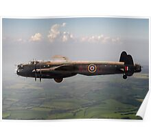 Dambusters Lancaster AJ-G carrying Upkeep Poster