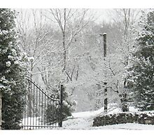 """White Side of the Gate""... prints and products Photographic Print"