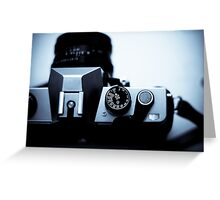 Analogue exposure dial Greeting Card