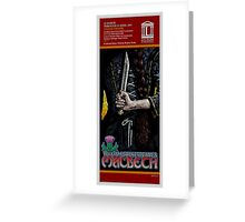 MACBETH - FAUX THEATRE POSTER Greeting Card