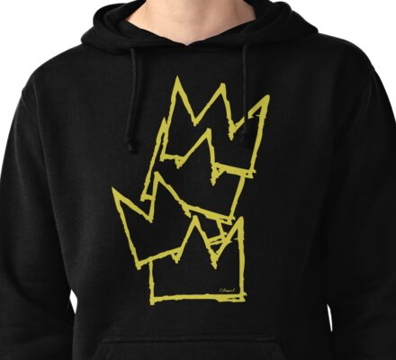 Stacked Crowns Yellow  Pullover Hoodie