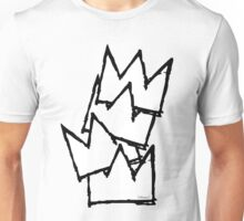 Stacked Crowns White  Unisex T-Shirt