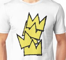 Stacked Crowns Yellow Unisex T-Shirt