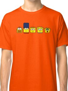 Simpson, homer, Marge, Bart, Lisa and Maggie Classic T-Shirt