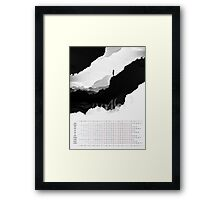 2016 Calendar White Isolation  Framed Print