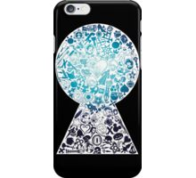 Kingdom Hearts - Keyhole (blue) iPhone Case/Skin
