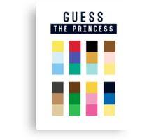 Guess the princess disney Canvas Print