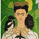 Frida with Monkey and Cat i-pad case by Shulie1