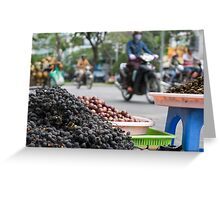 food stall Greeting Card