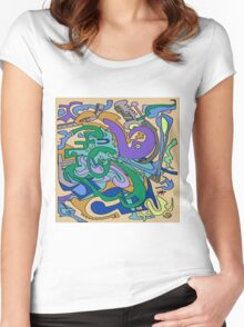 Funky works Women's Fitted Scoop T-Shirt