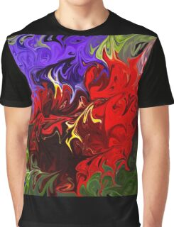 Pansies Abstract Graphic T-Shirt