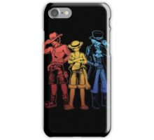 One Piece Brothers - red/yellow/blue iPhone Case/Skin