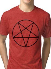 Satanic Black Pentagram Tri-blend T-Shirt