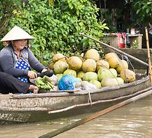 floating market by Anne Scantlebury