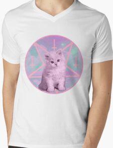 Pentagram Kitty Mens V-Neck T-Shirt