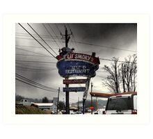 Vintage Roadside Attractions, Burnsville, NC's Lil' Smoky's Art Print