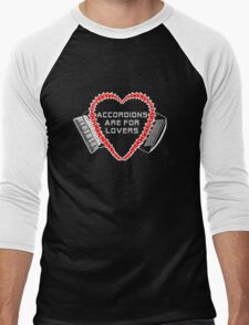 accordions are for lovers for dark colors! Men's Baseball ¾ T-Shirt