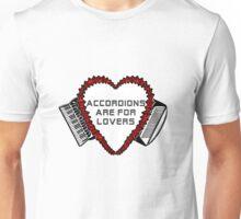 Flowered Accordion Bellows Heart Unisex T-Shirt