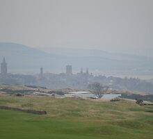 Misty St Andrews Skyline by Adrian Wale