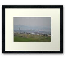 Misty St Andrews Skyline Framed Print