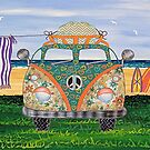 Kombie Campers (Green) by Lisa Frances Judd ~ QuirkyHappyArt