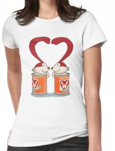 Canned Bunny Love Womens Fitted T-Shirt
