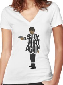 Jules from Pulp Fiction Women's Fitted V-Neck T-Shirt