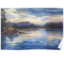 Camden Haven River sunset Poster