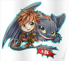 Httyd 2 - Chibi Hiccup and Toothless Poster
