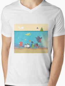 What's going on at the sea? Kids collection Mens V-Neck T-Shirt