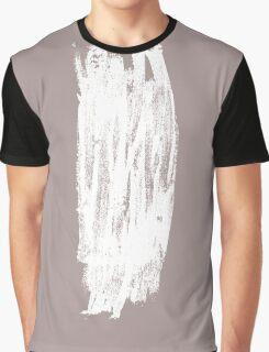 Simple Minimalistic White Brushtrokes on Beige Graphic T-Shirt