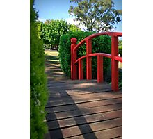 The Red Handrail Photographic Print