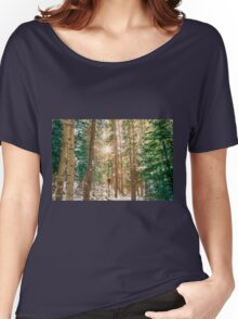 Winter Forest Sunshine Women's Relaxed Fit T-Shirt