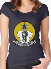 VFA-27 Royal Maces Patch Women's Fitted Scoop T-Shirt