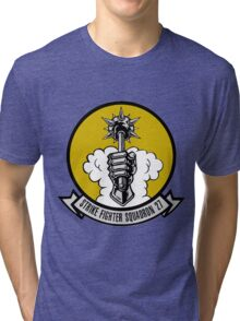 VFA-27 Royal Maces Patch Tri-blend T-Shirt