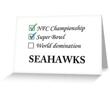 SEAHAWKS! Greeting Card