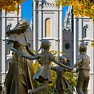 Salt Lake Temple Family Circle 20x30 by Ken Fortie