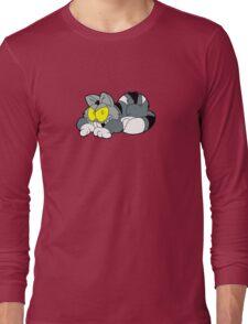 Mad Cat Hates Mondays! Long Sleeve T-Shirt