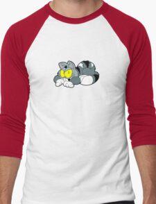 Mad Cat Hates Mondays! Men's Baseball ¾ T-Shirt