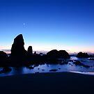 Crescent Moon Over The Needles by Jennifer Hulbert-Hortman