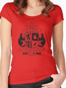 Cooper Coat of Arms (Monochrome Edition) Women's Fitted Scoop T-Shirt