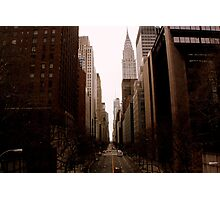 Looking West Down 42nd Street Photographic Print