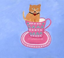 Cat in my Tea   Gato en mi taza  by lulujoy