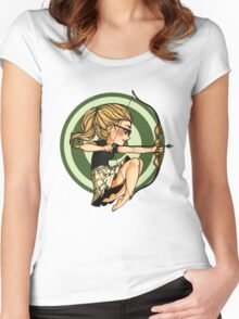 Felicity, where's my bow? Women's Fitted Scoop T-Shirt