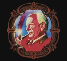 J. R. R. Tolkien Portrait with Orodruin Pipe T-Shirt