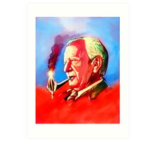 J. R. R. Tolkien Portrait with Orodruin Pipe Art Print