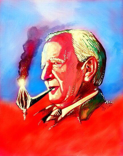 J. R. R. Tolkien Portrait with Orodruin Pipe by Jason Wright